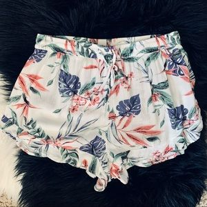 Divided by H&M floral drawstring shorts. Size 12